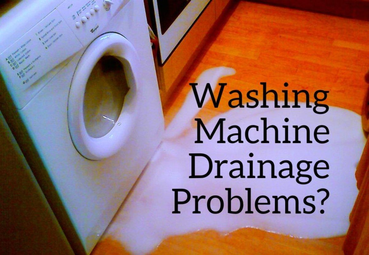 fix washing machine drain pipe overflow