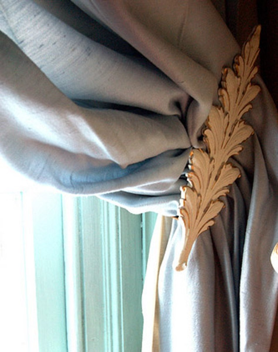 creative ideas for curtain tiebacks