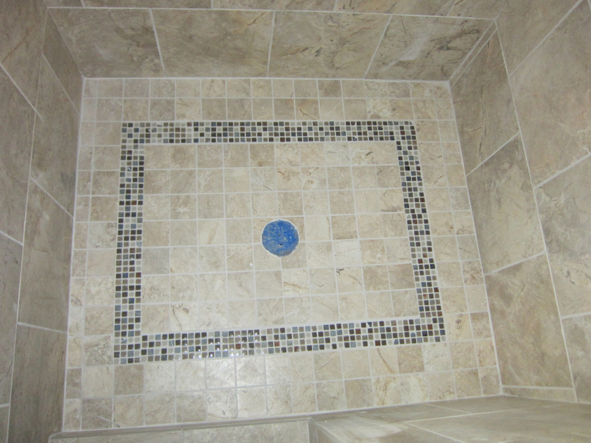 how to slope a shower floor with mortar