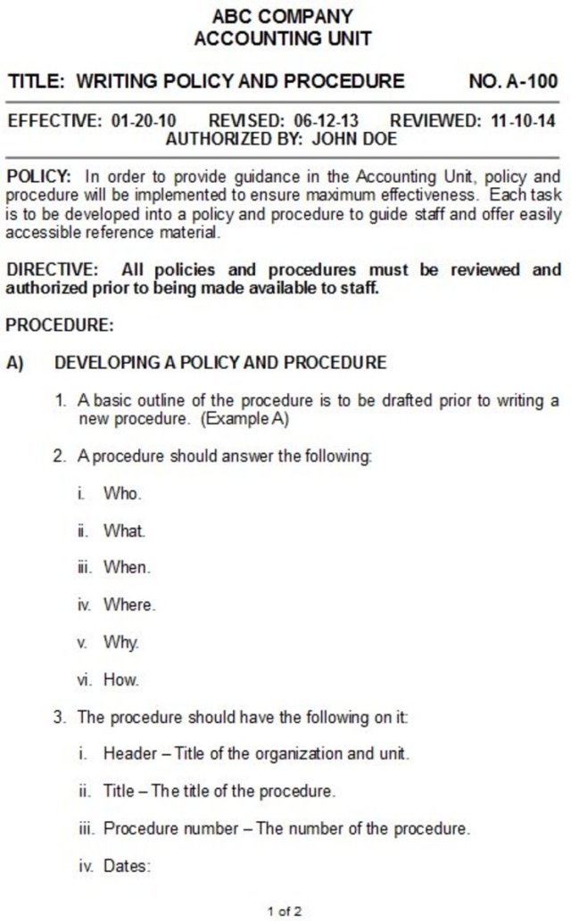 How to Write Policies and Procedures for Your Business - ToughNickel