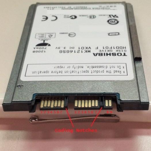 A SATA Hard Disk Drive Pin Out