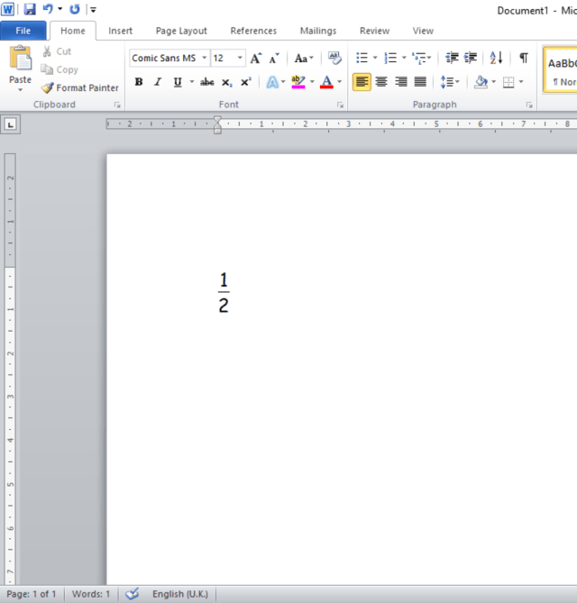 How to Write Fractions in Microsoft Word - TurboFuture