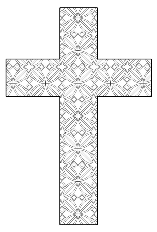Free Printable Cross Coloring Pages - FeltMagnet