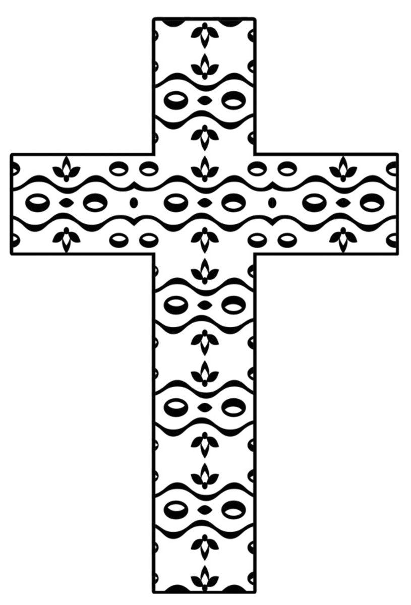 Free Printable Cross Coloring Pages Feltmagnet Crafts