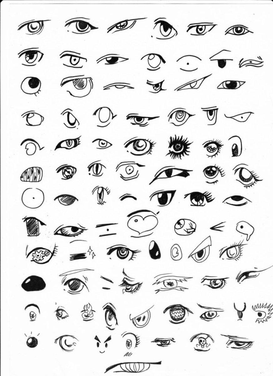 Anime Eyes Easy To Draw : anime, Manga-Style, FeltMagnet, Crafts