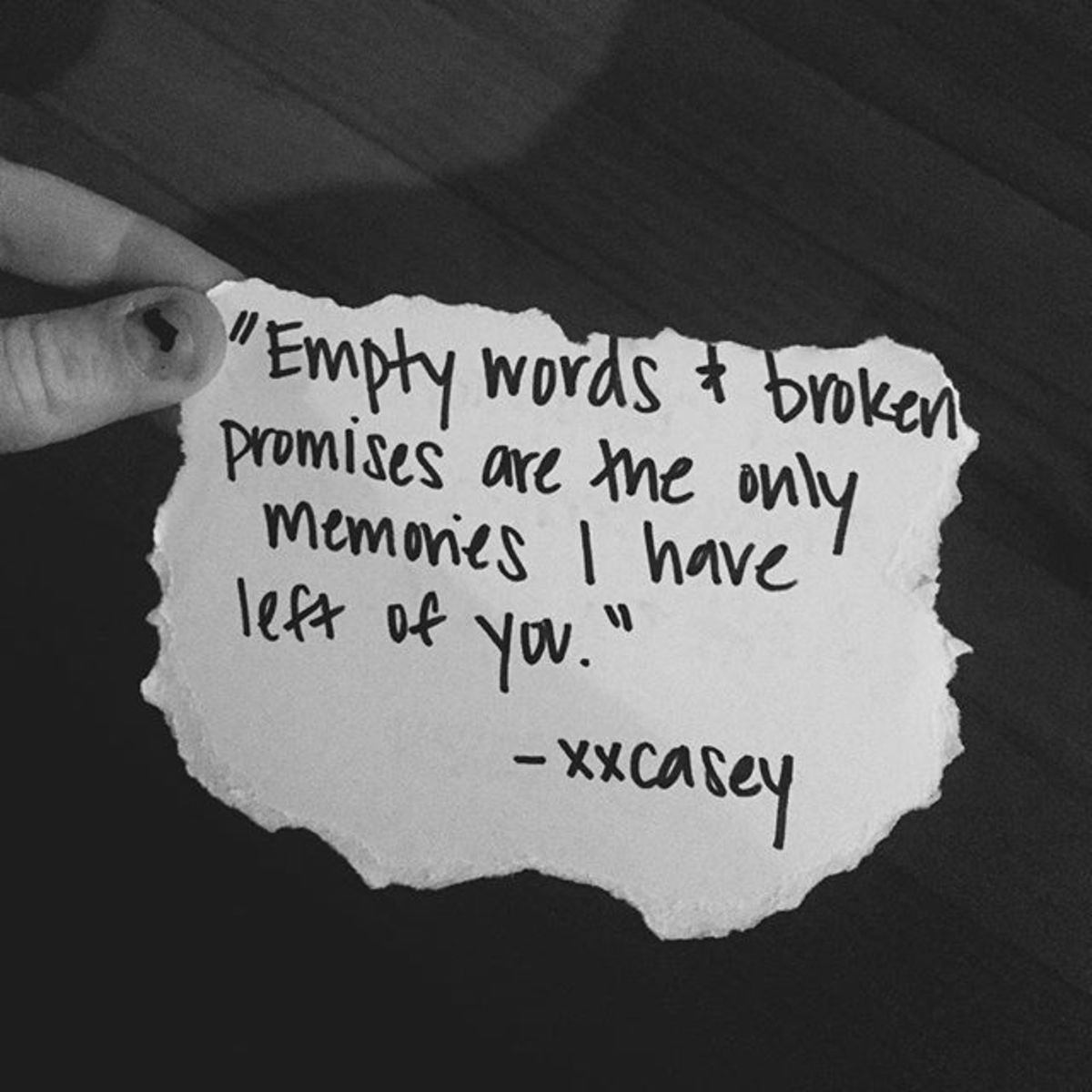 Empty Words and Broken Promises - LetterPile - Writing and Literature