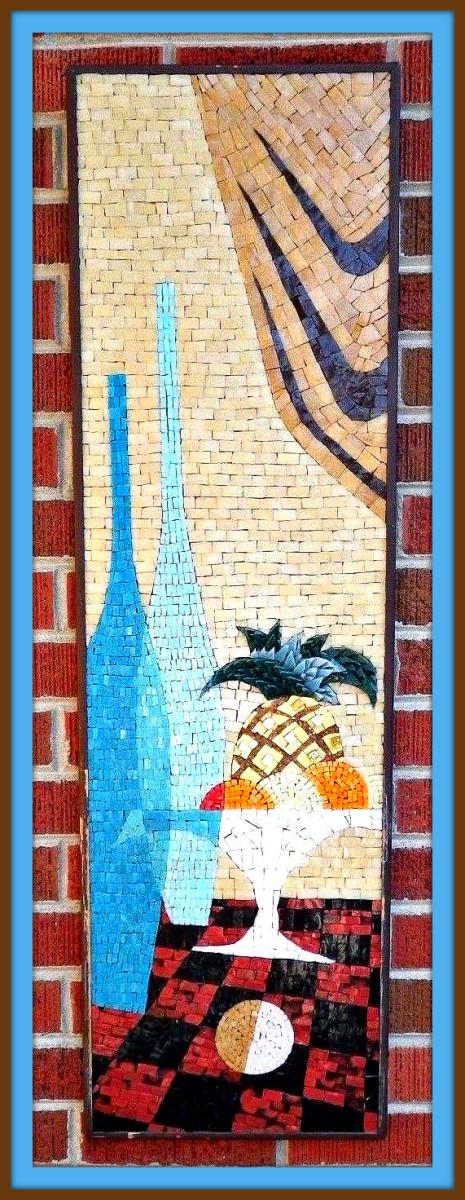 1960s gravel mosaic wall art