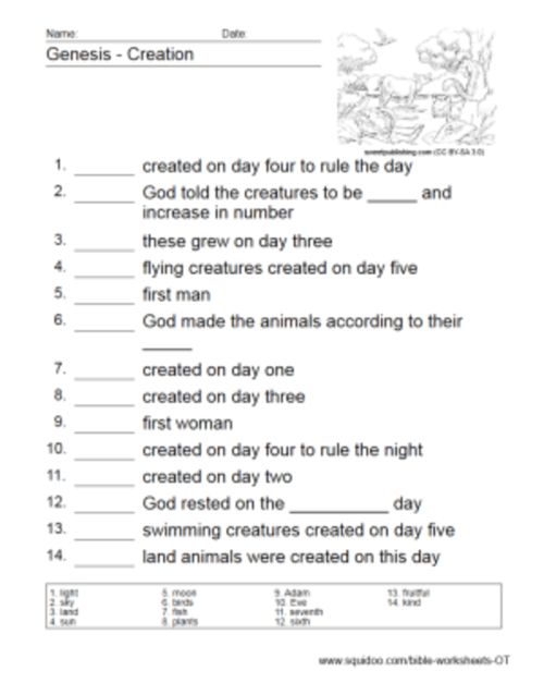 small resolution of Old Testament Worksheets - HubPages