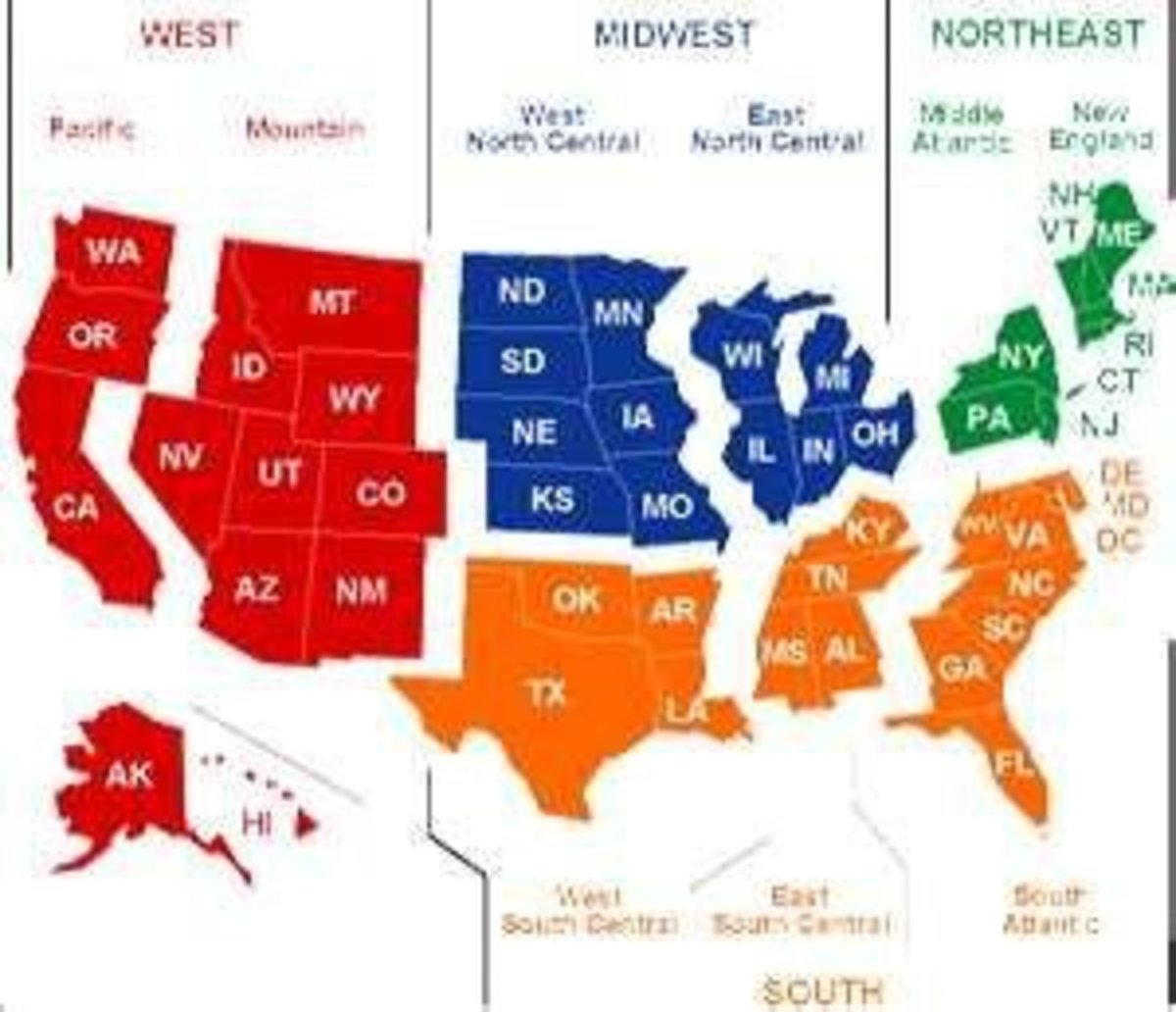 hight resolution of Midwest States Lesson - HubPages