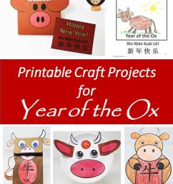 Printable Year of the Ox Projects and Crafts for the Chinese New Year -  Holidappy - Celebrations [ 1200 x 927 Pixel ]