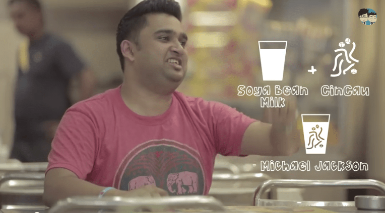 A typical Malaysian ordering a Rojak drink.