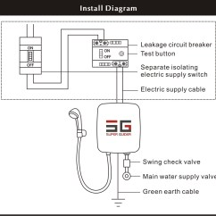 Water Heater Switch Wiring Diagram 2002 Ford Escape Engine Shower Electric Library