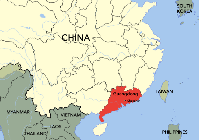 The Teochew people came from the Chaoshan region of Guangdong province.