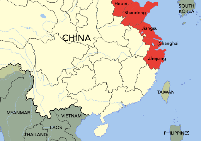 The Wu people came from Zhejiang, Jiangsu, and Shanghai, while the Mandarin people hailed from Hebei and Shandong.