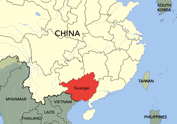 The Kwongsai people came from Guangxi.