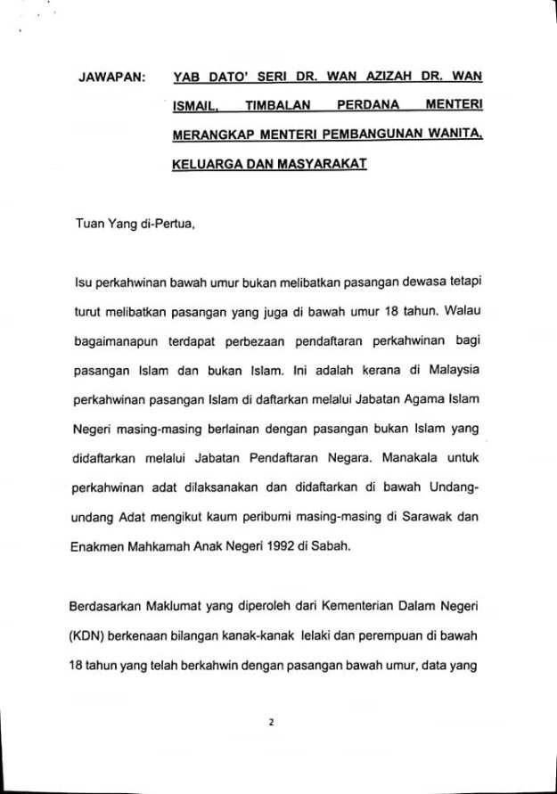 Kahwin Bawah Umur Di Malaysia. Islam Lebih Ramai? Anda Pasti?