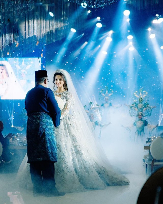 global-wedding, featured, celebrity - Photos from Malaysia Sultan Muhammad V And Oksana Voevodina Royal Wedding