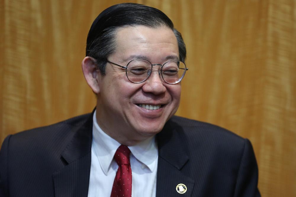 Lim Guan Eng, Menteri Kewangan.