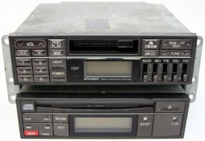 19911992 Mitsubishi 3000GT Factory Stereo Tape CD Player