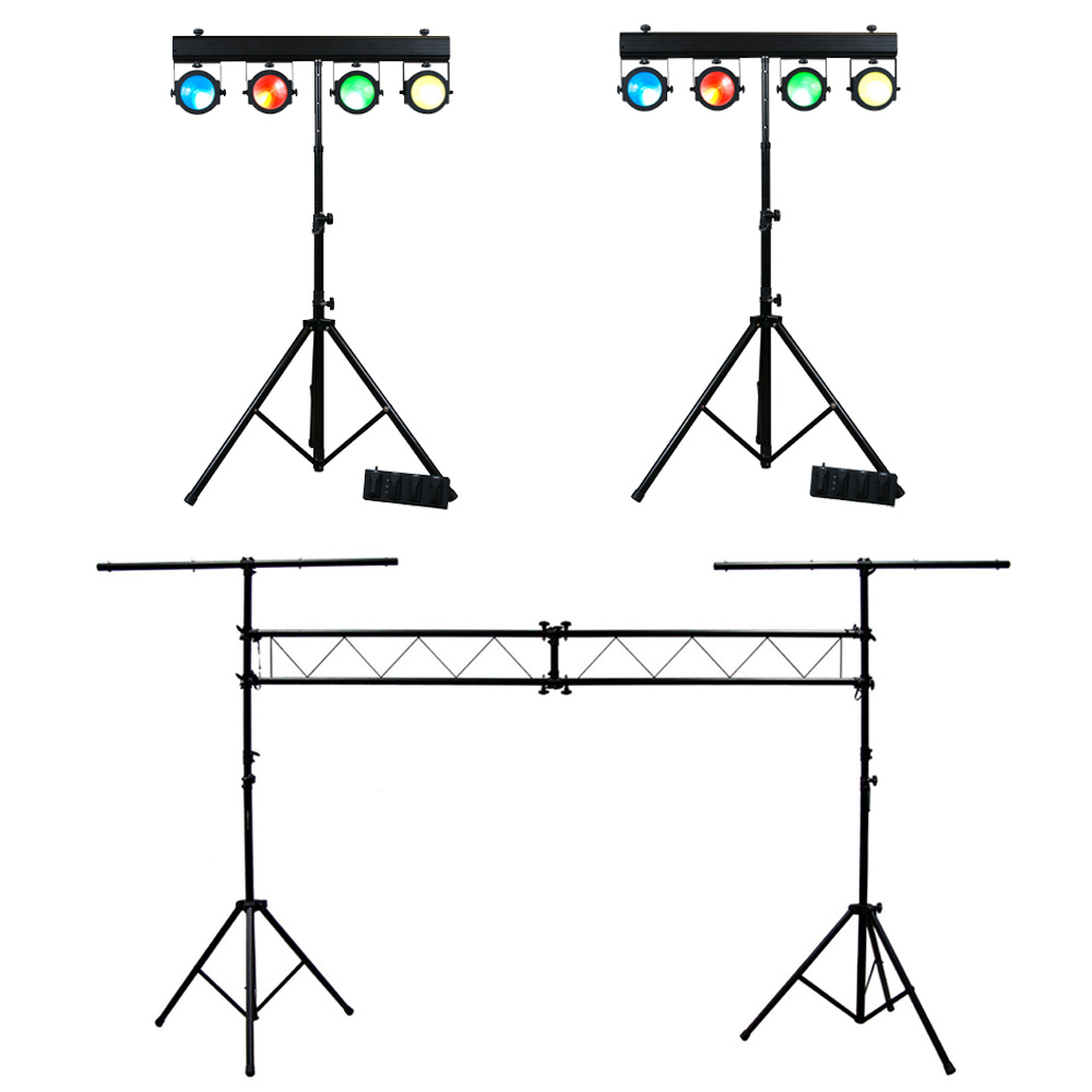 (2) American DJ Lighting Dotz TPar System Slim COB LED