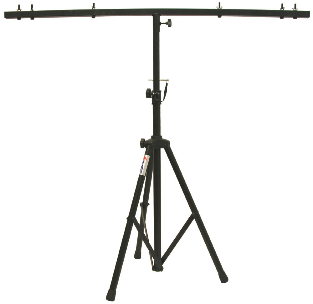 Pro Audio DJ Adjustable Tripod Stand with Top T Bar for