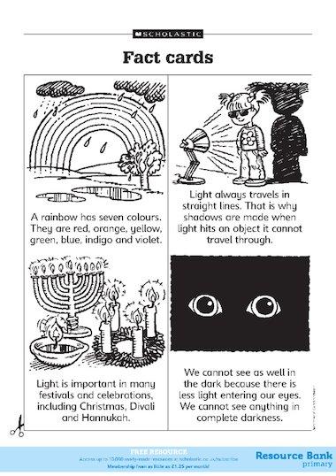 Light and dark fact cards