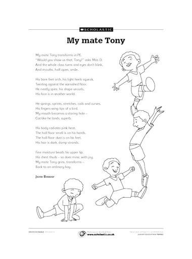 'My mate Tony' poem