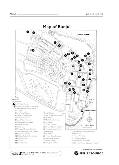 The Gambia: Map of Banjul