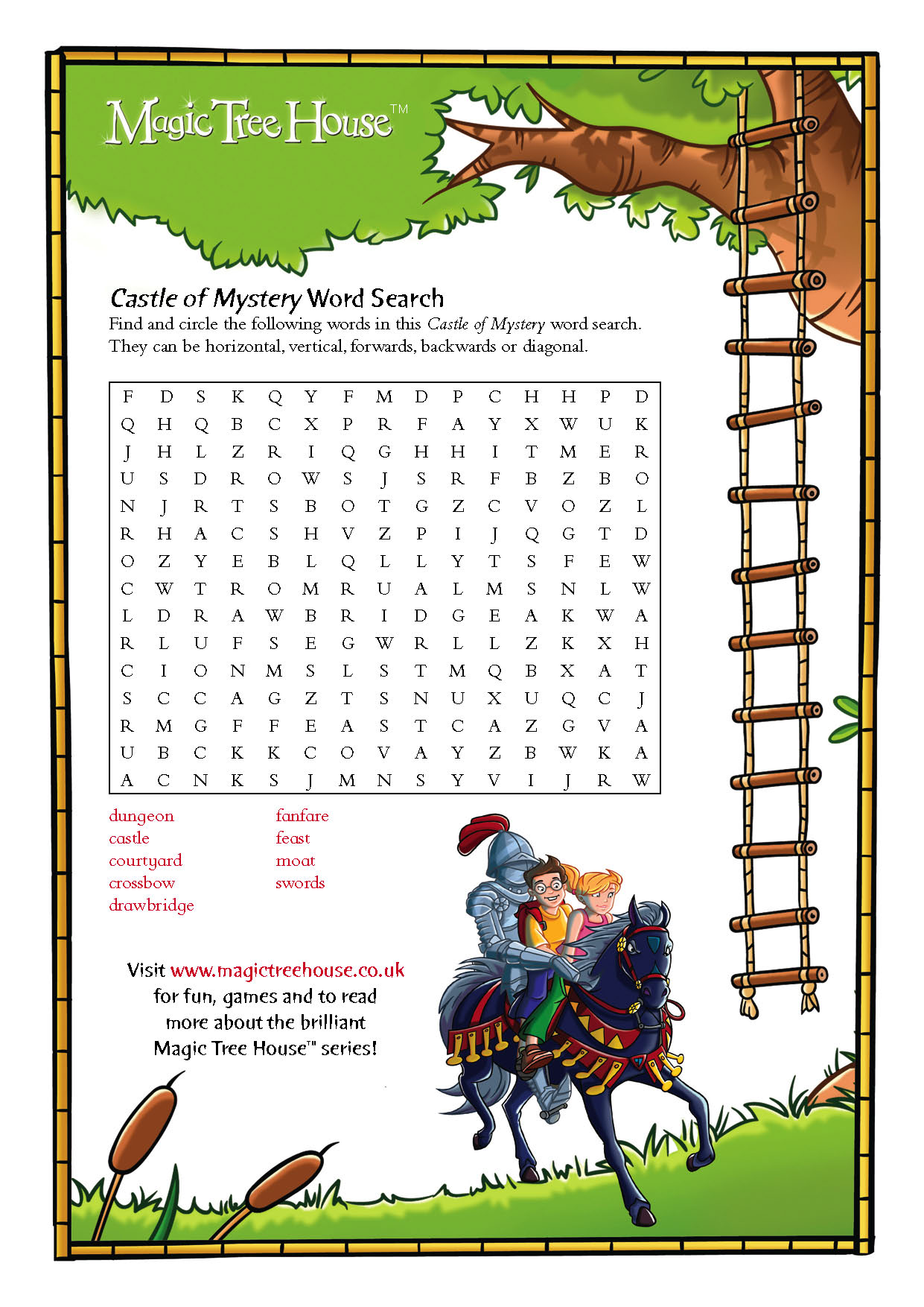 Magic Tree House Wordsearch