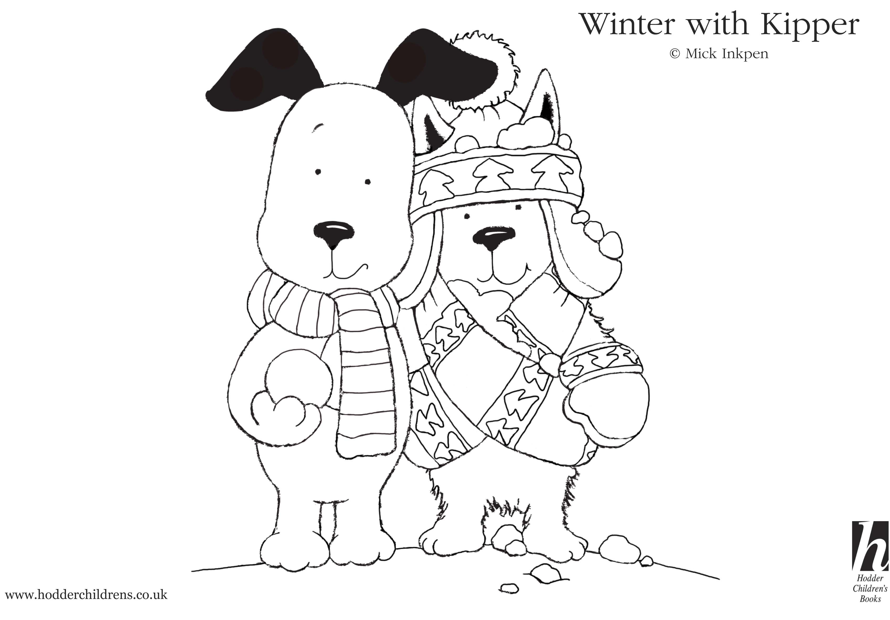 Kipper Snowy Colouring