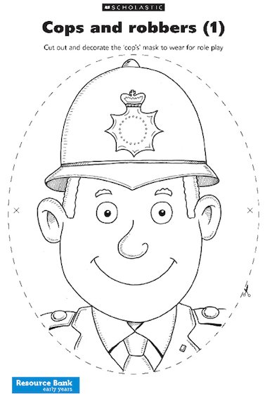 Cops and robbers: Policeman mask