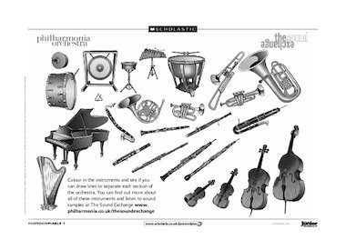 The orchestra – musical instruments