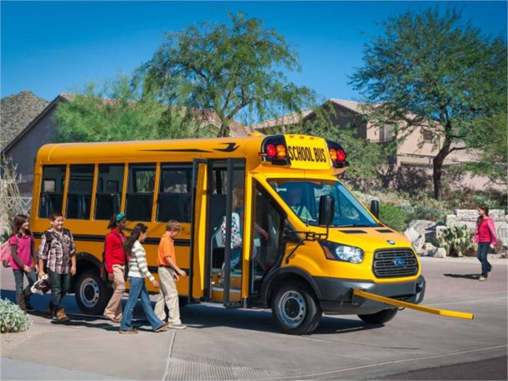 medium resolution of 1st school bus built on ford transit is micro bird t series