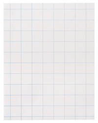 School Smart Graph Paper, 8-1/2 x 11 Inches, 15 lbs, 1