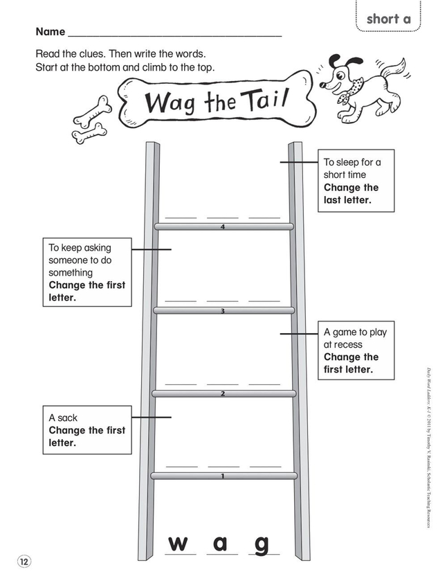 Scholastic Daily Word Ladders, Grades K to 1