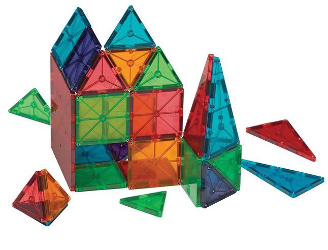 magna tiles 3d magnetic building tiles clear colors 100 pieces