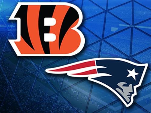 Image result for Cincinnati Bengals vs. New England Patriots