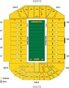 Not sure which color to wear hawkeyefootball opener kinnickstadium here    seating chart help also live updates iowa hawkeyes football qctimes rh