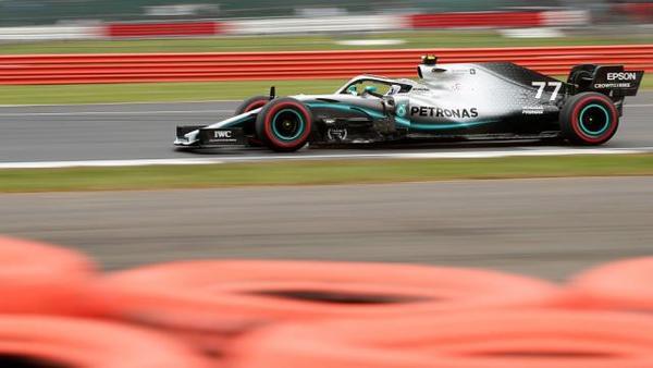 Bottas clinches pole position at British GP