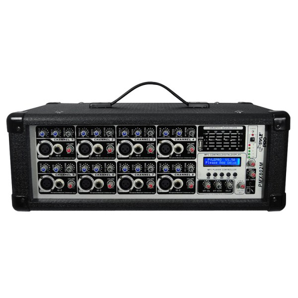 Pyle Pro Audio Pmx802m 8 Channel 800 Watts Powered Mixer Withmp3 Input