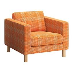 ikea karlstad chair fold up camping chairs armchair slipcover cover husie orange 902 547 09