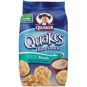 Quakes Rice Snacks Ranch from Quaker Nurtrition Price