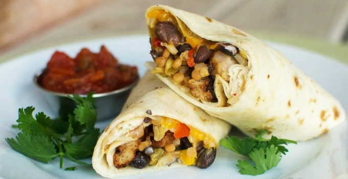 Southwestern Chicken Wrap from QT Kitchens  Nurtrition