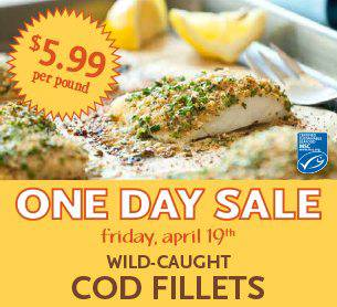 Wild Caught Atlantic Cod Fillet from Whole Foods Market
