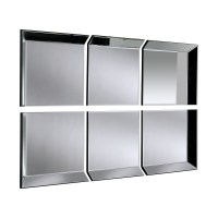 Large Mirror: Byblos 6 Panel Wall Mirror | Select Mirrors