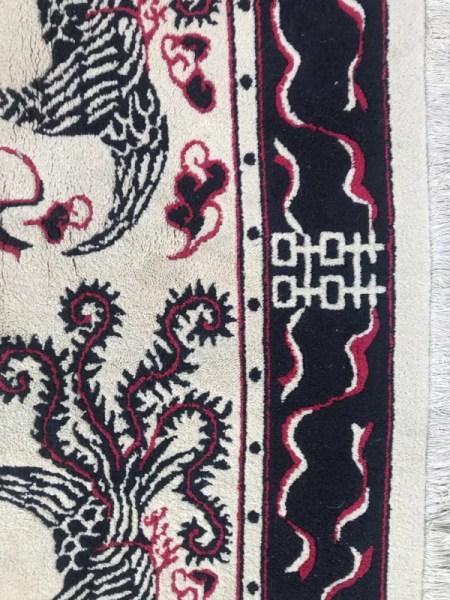tapis carre du vietnam fait main 150x150 cm selency