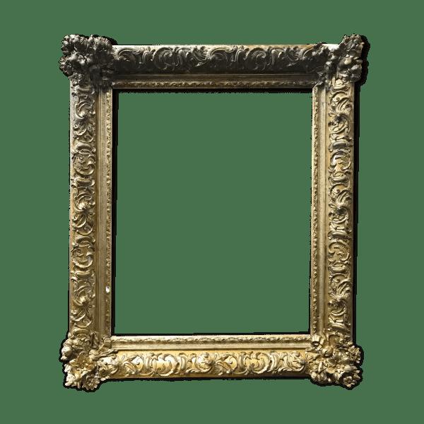 cadre ancien en stuc et bois dore selency