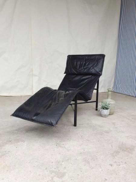 chaise longue en cuir de fin de siecle par tord bjorklund pour ikea selency