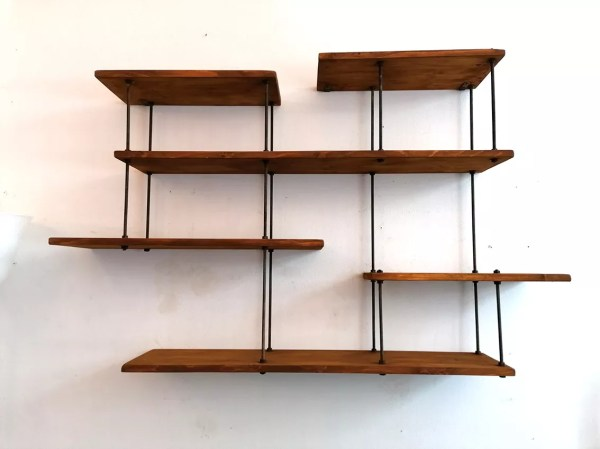 etagere destructuree metal et bois selency