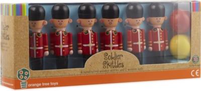 Orange Tree Toys Wooden Soldier Skittles Selfridges